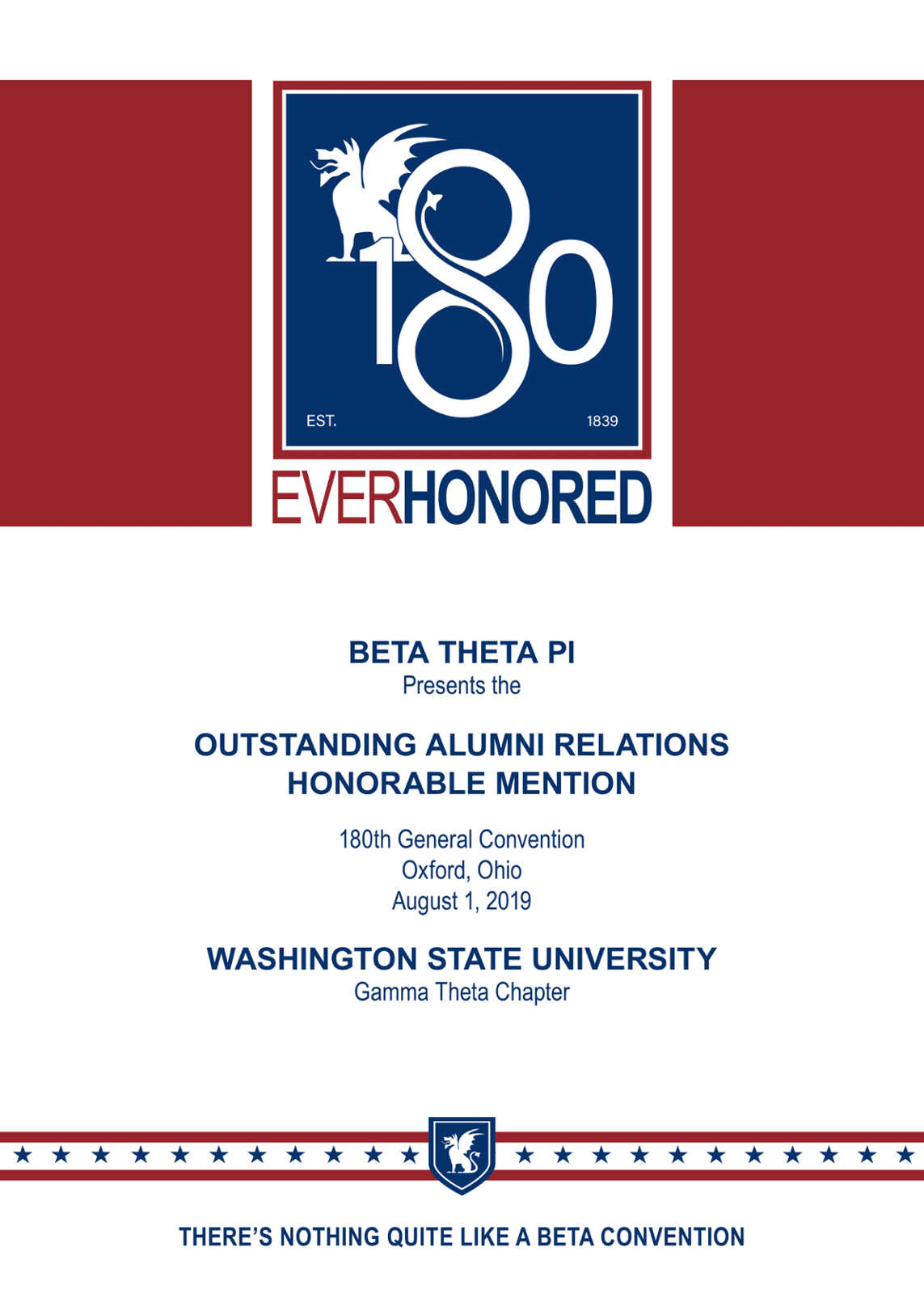 Outstanding Alumni Relations - Honorable Mention